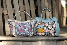 2013 print flower pu tote bags beautiful elegant bags handbags trendy bags woman