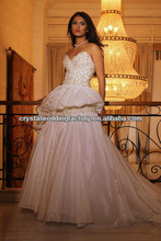 Free shipping sweetheart beaded appliqued arabic gown lace mermaid hijab wedding dress 2013 CWFaw5237