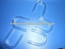 customized clear U sharp quartz tube