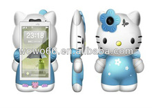 Hello Kitty Cell Phone Quad Band Bluetooth Cartoon Phone W520