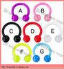 Flexible acrylic pure color horseshoe lip rings piercing jewelry