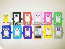 penguin silicone case skin cover for LG optimus L3 E400
