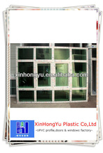 pvc openable window with fixed glass design