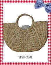 natural fan corn husk straw bag