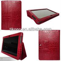elegant croco flip stand leather case for samsung galaxy tab 2 p5100 10.1