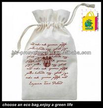 mini eco cotton pastry drawstring bag flower bag