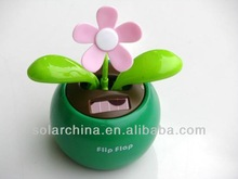 Plastic flip flap solar dancing flower/solar decoration product