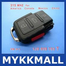 Hot selling volkswagen/VW transponder key for 315MHZ 1JO 959 753 T, Volkswagen key with 315MHZ--Demi