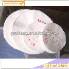 100mm 100% White Bleached /white / bleached white / cotton buffing cloth /pure / Jewel wheel /Non Stitch Cotton Buffs