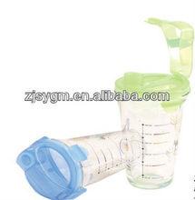 400ML printing glass shaker bottle