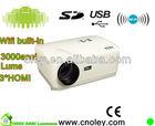 1080P 3D LED Projector highest native resolution1280*800 5.8 inches LCD Panel 3*HDMI+2*USB+AV+VGA+YPbPr