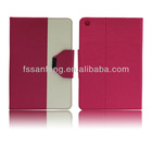 Fashion for Apple Ipad mini leather wallet flip case cover; I pad mini leather case cover ;wallet flip cell phone covers