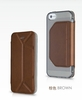 2013,factory cellphones accessories New Stand Fold flip PU leather case for iPhone 5 smart cell phone case