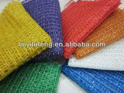 Plastic onion/fruit mesh net bag with PE material