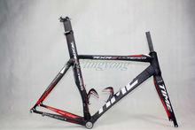 time black/label color bicycles carbon fiber road bike frame