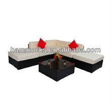 Outdoor Rattan Garden Wicker 6-Piece Sofa Set Patio Sectional Furniture