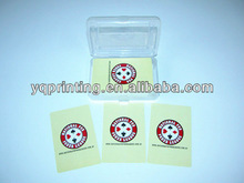 custom promotion personalized adhesives to poker