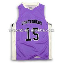sublimation custom sleevesless new custom basketball top