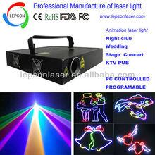 2W RGB animation laser stage lighting pc controlled laser lighting