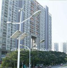 56w wind solar hybrid streetlight, 400w wind turbine with 100w*2 solar panel and 56w led lamp