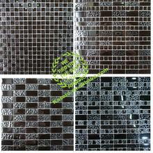 iridescent black mosaic wall tile, mosaic glass tile,mosaic tile art pattern