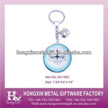 2013 New Product HX-1842 Round Light Picture Metal Lexus Keychain