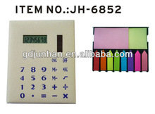 JH6852 promotional 8 digital solar calculator with sticky notes