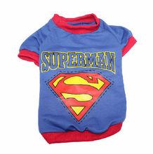 Dog Puppy Clothes Cotton Superman logo T-Shirt