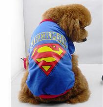 2013 Fashion Dog Puppy T-Shirt with superman logo