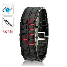 "Japanese Style Inspired Red LED Watch ""Iron Samurai"""