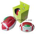B056 6 pulgadas de peluche canadá bandera de rugby ball juguetes/bola divertido