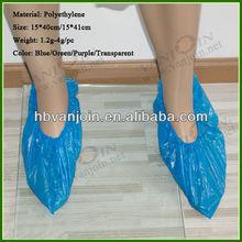 Blue Plastic PE Shoe Cover