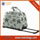 Customized safari durable carryon rolling duffel big size travel trolley bag