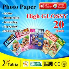 InkJet Photo paper , A4 Size High Glossy Inkjet Photo paper for Inkjet printer