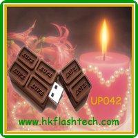 Funny chocolate usb flash stick verbatim 4gb/8gb for Valentine's Day