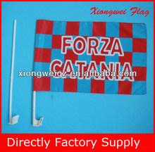 custom car window flag banner car flag with plastic pole