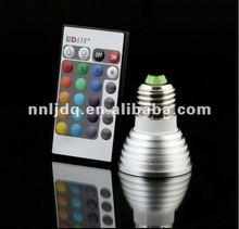 16 colors changing E27 RGB 3w Led Bulb Light/ E27 Led Light Bulb 3W RGB led bulb light/led spot light
