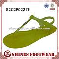 Maçã verde pvc chinelo/geléia sapato