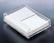Crystal Clear Elegant Memo Pad Holder/Acrylic Memo Holder