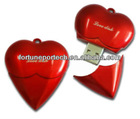 red metal heart shaped usb gifts,usb 2.0, heart shaped usb pen drive
