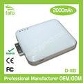 2000 mah batería externa universal laptop cargador para el teléfonointeligente, pda, tablet pc, mp 3, de la cámara, jugador del juego