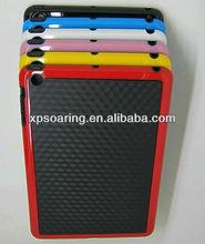 TPU+PC fiber carbon case back cover for Mini ipad