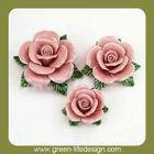 Decorative handmade ceramic flowers
