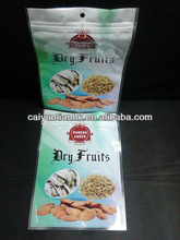 Dry fruits/nuts packaging bags with zipper/hanger hole plastic bag