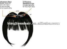 100% human hair extension waving human fringe bang hair