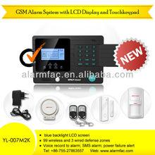 Personal home/business use wireless gsm sms burglar intruder security alarm system (YL-007M2K)