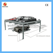 Simple lifting parking equipment/car lift parking 2 cars;automotive lift/Stacking Four Post Car Lift Parking System