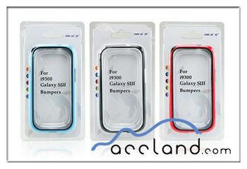 New Bumper Casefor Samsung Galaxy S3 I9300 ,PC + Silicone bumper case for S3 i9300