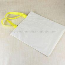 Yellow Handle Plain Cotton Tote Bag
