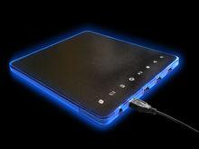 NEW Mousepad Mouse Pad Mat With Blue LED Light + 4 Ports USB Hub for PC Laptop